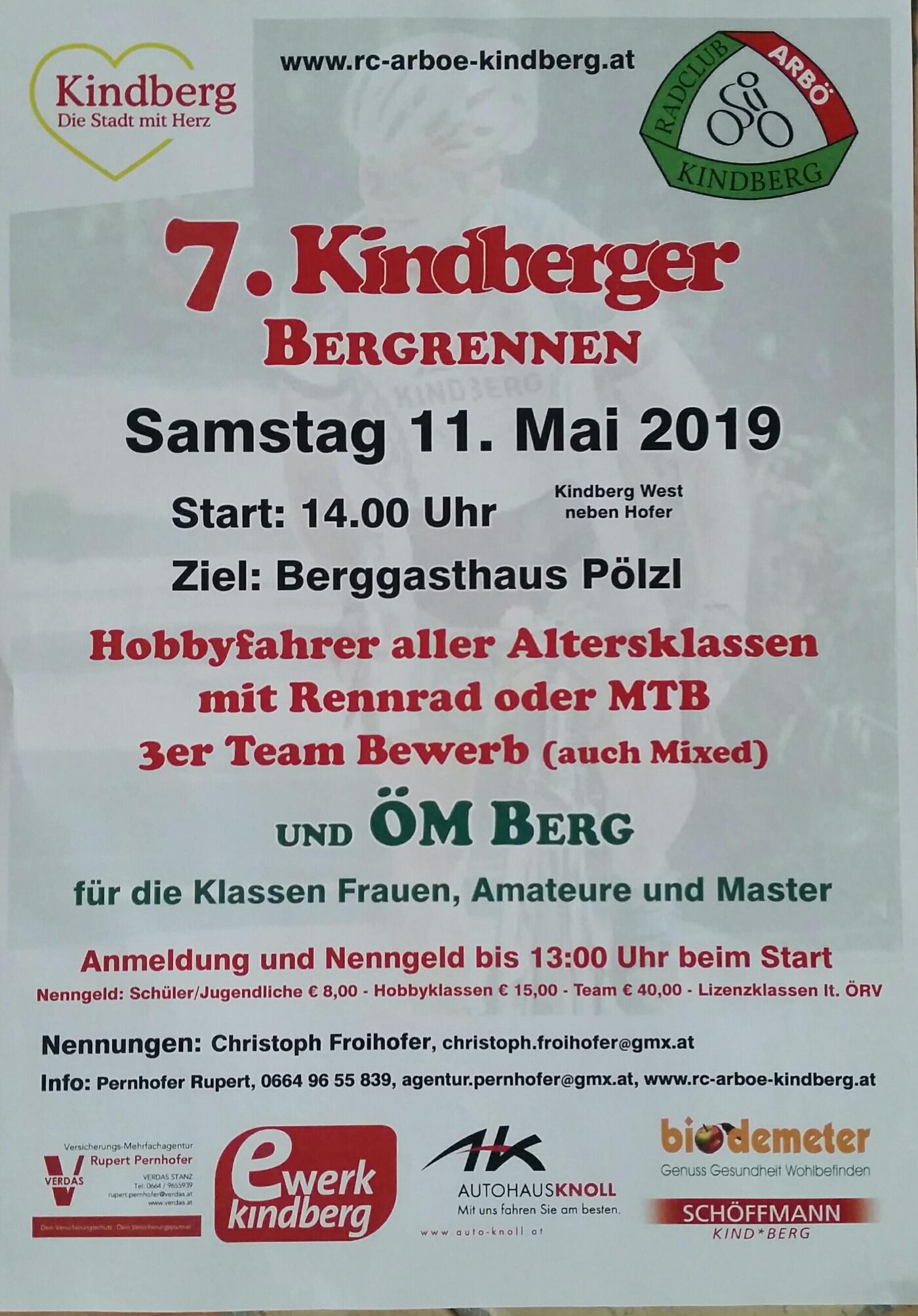 Plakat Kdbg Bergrennen